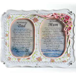 Mum and Dad Personalised Gift Frame - Thankyou Celebration Present Anniversary