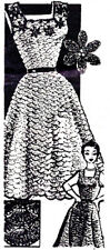 Vintage Crochet PATTERN to make Evening Dress Jumper Shell Stitch 1940s 667Cro
