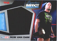 TNA Rob Van Dam 2011 Sig Impact BLUE Event Worn Shirt Jumbo Relic Card SN 13 /25
