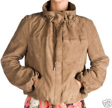 BRAND NEW REDSKINS FAWN /KHAKI SOFT GOAT SUEDE LOOSE FIT SHORT BAGGY JACKET