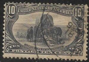 xsc762 Scott 290 US Stamp 1898 10c Hardships of Emigration Used