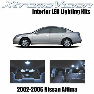 XtremeVision Interior LED for Nissan Altima Sedan 2002-2006 (10 PCS) Cool White