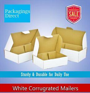 White Corrugated Box Mailer Everyday Mailing Box Shipping Carton