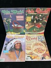Tole World, Lot Of 4 Magazines, 1991-1994