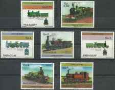 Timbres Trains Paraguay 2108/14 ** lot 26134