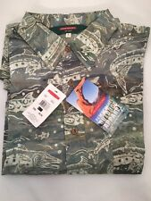 REDINGTON CUDA BATIK PRINT CASUAL SHIRT SIZE LARGE -  SAGE - NEW - MSRP $50
