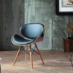 Retro Style DSW Eiffel Dining Office Chair Wood Legs  Walnut Finish