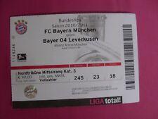 TICKET / FC BAYERN MÜNCHEN - BAYER LEVERKUSEN / 1.BL 10/11