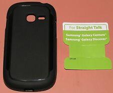 Straight Talk Gel case for Samsung Galaxy Centura/Discover, Black Matte finish