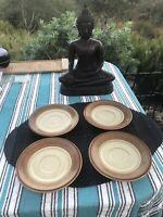 """4 Mikasa Bob Van Allen Sandstone Saucers For Coffee /teacups 6 1/4"""""""