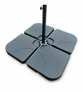 Square Parasol Base Stand Weights for Banana Hanging Cantilever Umbrella 4 Piece