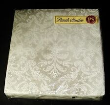Punch Studio 40 Paper Beverage Napkins 3-ply Silver Brocade 99627