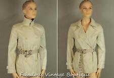 NAFNAF Beige Cotton Olivia Scandal Belted Jacket Classic TRENCH Dress COAT 36