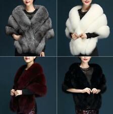 6 Colors! Womens Ladies Faux Fur Wraps Bridal Wedding Evening Shawl  Shrug Cape