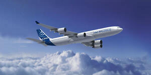 AIRBUS A340 AIRCRAFT POSTER PRINT STYLE B 18x36 HI RES 9MIL PAPER