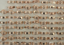 Wholesale Lots 40pcs Rose Gold P Mixed Fashion Jewelry Alloy Women Lady's Rings