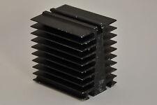 2x schwarze Aluminium-Kühlkörper, ca. 60 x 80 mm, 80 mm Höhe, Alu Strangguß