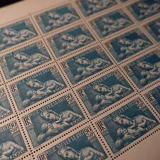 FEUILLE SHEET BENEFICIO PROFILAXIS DE LA SALUD Nº419 x25 1939 NEUF LUXE MNH