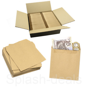 Small Brown Wage Envelopes - 80GSM 108 x 102 mm - Pocket Square Coin Envelopes