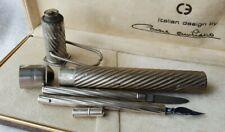 More details for unusual antique pen shaped mini inkwell & dip pen (etui) holder- see descript