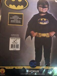 NEW DC Batman Halloween Costume Child Toddler 2t-4t Rubie's Superhero Bat Man