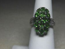 Russian Diopside  Cluster ring , size 5 ,  2.430 cts.