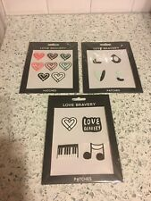 Set Of 3 Love Bravery Lady Gaga & Elton John Re-Stickable Plushie Stickers