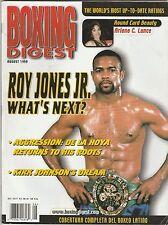 BOXING DIGEST MAGAZINE ROY JONES Jr. COVER AUGUST 1999