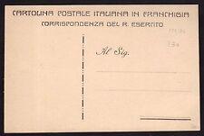 CARTOLINA Militare in franchigia 1915 NUOVA (FILs)