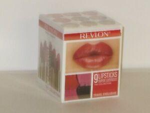 REVLON SET X 9 FULL SIZES SUPER LUSTROUS LIPSTICKS(ASSORTED COLORS) 4.2 g ea NEW