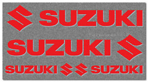 4 Suzuki Aufkleber 200/100mm Racing Tuning Styling Motorrad 30 Farben SU014