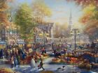 Thomas Kinkade Studio The Pumpkin Festival 18 x 27 canvas