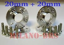 4 DISTANZIALI RUOTA 20+20mm VW GOLF V MK5 Bullone CONICO+KIT ANTIFURTO