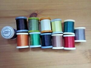 12 x Assorted Colours of Danville Mono Cord x 50 Yards