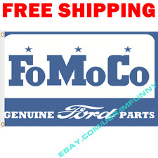 Ford Fomoco Genius Parts Banner Flag 3x5 ft Racing Car Show Garage Wall Decor
