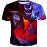 Summer Women/men Fire Dragon 3D print Short Sleeve Casual T-Shirt tops S-5XL GV2