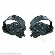 Exercise Bike Pedals Adjustable Straps 9/16 Stationary Gym Bicycle VP420 3534A