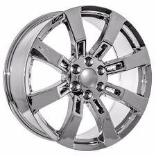 "4  22"" OE Yukon Denali Wheels Chrome  Escalade GMC Tahoe Yukon Chevrolet"