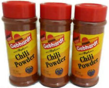 Gebhardt CHILI POWDER 3 oz Lot of 3 Gebhardt's Mexican Cooking Spice San TX