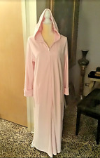 Land's End Plush Fleece Zip Front Robe Pale Pink sz.M