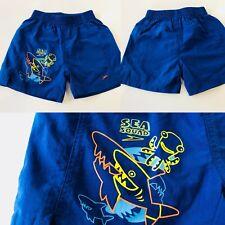 Boys Swimming Shorts Blue Swim Wear SPEEDO 1-2 Y Toddler Elasticated Waist