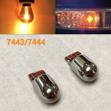 T20 7443 7444 Amber Silver Chrome Bulb Front Signal Light for GM Buick Cadi Chev