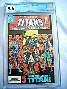 DC TALES OF TEEN TITANS #44 CGC 9.6 NM+ WP 1st Nightwing Origin Deathstroke 1984