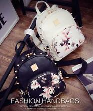 Floral Studs Leather Backpack