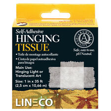 "Acid Free Self Adhesive Thin Hinging Tissue 1""X35' Lineco # L533-0125 (bin501A)"
