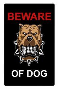Beware Of Dog Security Metal Aluminium Sign Plaque For Gate House Door 5 Sizes