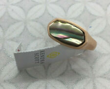 Kendra Scott Mel Rose Gold Cocktail Ring in Abalone Shell Size 7
