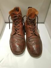 Trickers brogue country boots 10 Made in England well used were £445.00 when new