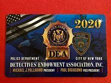 """NEW"" SIGNED 2020 NYPD DEA DETECTIVE CARD ""100% AUTHENTIC"""