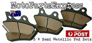 HARLEY DAVIDSON FRONT AND REAR BRAKE PADS ELECTRA GLIDE CLASSIC STANDARD ULTRA